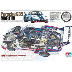 Tamiya - 1:12 Porsche 935 Martini m. PE - makett