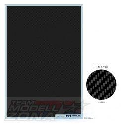 Tamiya - Karbon mintázatú vizes marticaív 130 mm x 190 mm x 1 mm