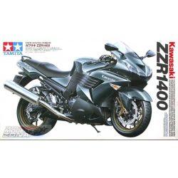 Tamiya - 1:12 Kawasaki ZZR 1400 Ninja/ZX-14 Stre. - makett