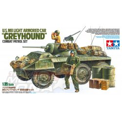 Tamiya -1:35 US M8 Greyhound Combat Patrol Set - makett figurákkal