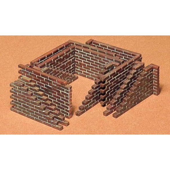 Tamiya Brick Wall Set - makett