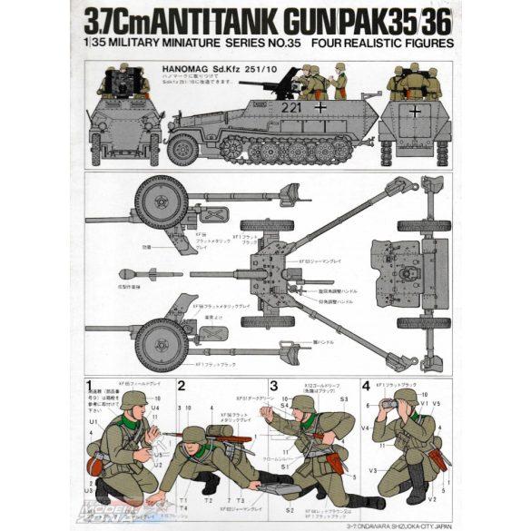 Tamiya German 37mm Anti-tank Gun - makett