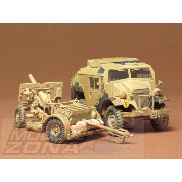 Tamiya British 25 Pndr Gun/Quad - makett
