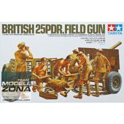 Tamiya - 1:35 British 25 pound Field Gun - makett