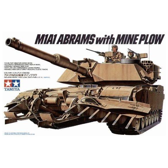 Tamiya US M1A1 ABRAMS MINENSUCHER - makett