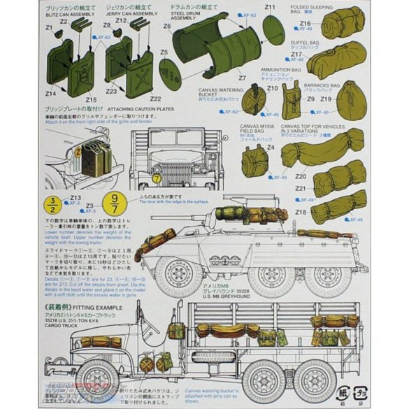 Tamiya Allied Vehicles Accessory Set - makett