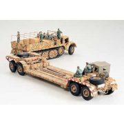 Tamiya German 18T Famo and Tank Transporter - makett