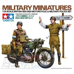 Tamiya British BSA M20 Motorcycle - w/Military Police Set - makett