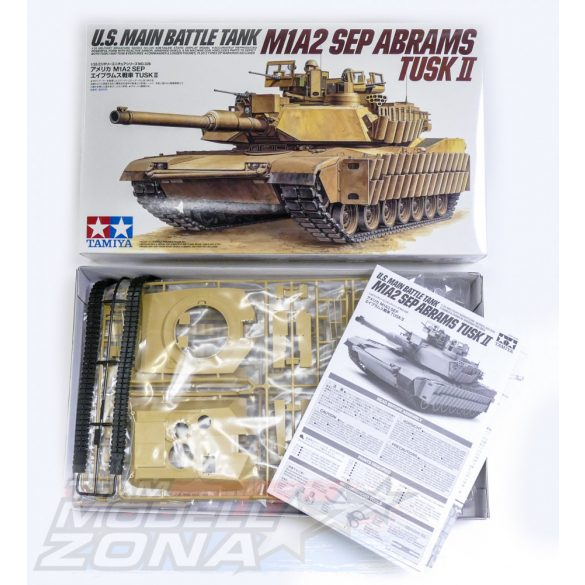 Tamiya US M1A2 SEP Abrams TUSK II - makett