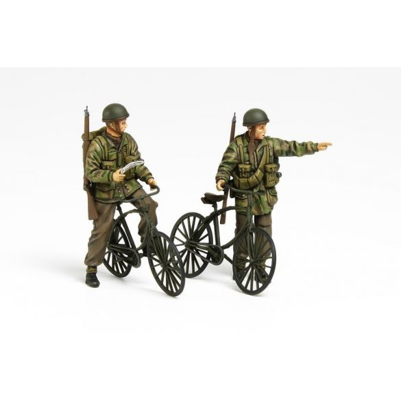 Tamiya British Paratroopers Set - w/Bicycles - makett