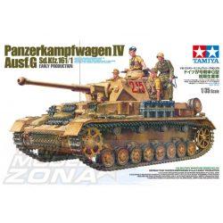 Tamiya - 1:35 Dt. Pz.Kpfw. IV Ausf.G Frühe.Prod. - makett 3 figurával