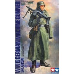 Tamiya - 1:16 WWII Figur Dt.Soldat m.Mantel u.MG - makett figura