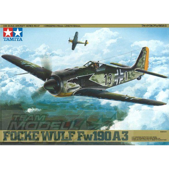 Tamiya - 1:48 FW190 A-3 Focke-Wulf - makett