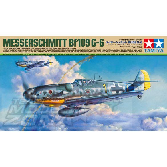 Tamiya - 1:48 Dt. Bf109 G-6 Messerschmitt- makett