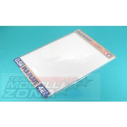 Tamiya - 4 darab fehér műanyag lap - 0.5 mm