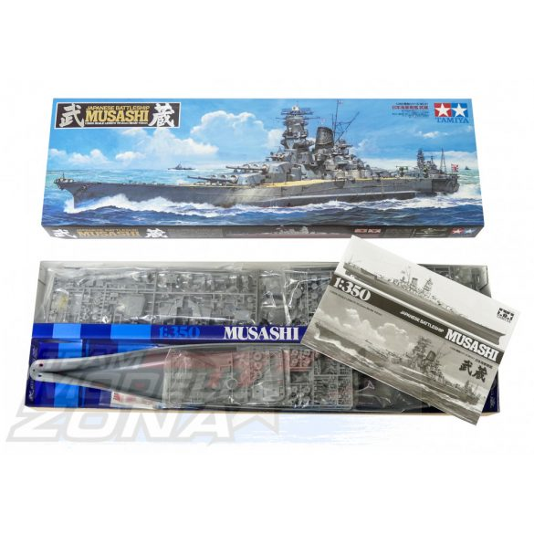 Tamiya Japanese Battleship Musashi- makett