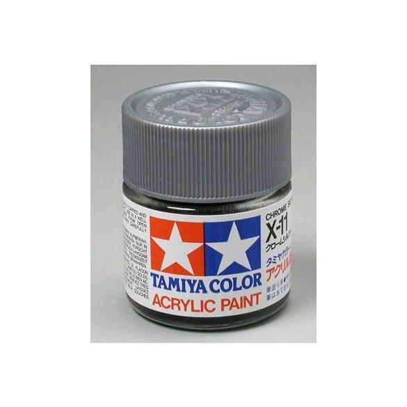 Tamiya Acrylic X-11 Chrome Silver