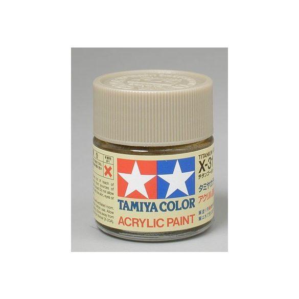 Tamiya Acrylic X-31 Titanium Gold