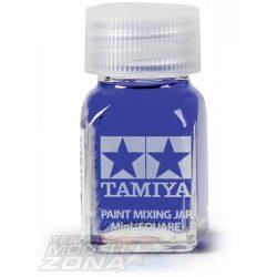 Tamiya - festék keverő üveg 10 ml - szögletes