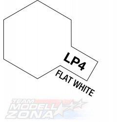 LP-4 flat white 10ml (VE6) - matt fehér festék