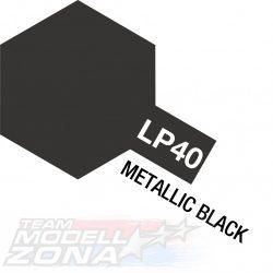 LP-40 metallic black - metál fekete festék - 10 ml