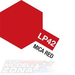 LP-42 mica red - csillám piros festék - 10 ml