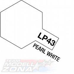 LP-43 pearl white - gyöngyház fehér festék - 10 ml