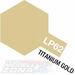 LP-62 Titanium Gold gloss - titán arany fényes festék - 10 ml