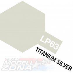 LP-63 Titanium Silver gloss - titán ezüst fényes festék - 10 ml