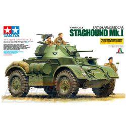"""Tamiya - 1:35 """"Staghound"""" britt pánclozott jármű - makett 3 figurával"""