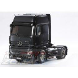 Tamiya - 1:14 RC Mercedes Benz Actros  festett kasztnival (fekete metál)