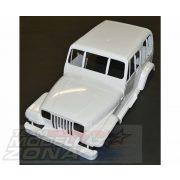 Tamiya - Jeep Wrangler ABS karosszéria összes tartozékával, kivéve ablakok!