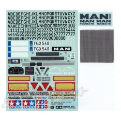 Tamiya matrica szett MAN TGX 18.540 Ver.II