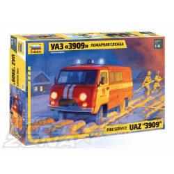 """Zvezda - 1:43 UAZ """"3909"""" tűzoltó autó - makett"""