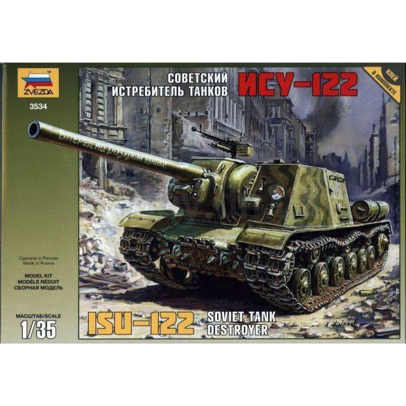 Zvezda Soviet tank destroyer ISU-122 - makett