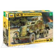 Zvezda Soviet Armored Car BA-10 - makett