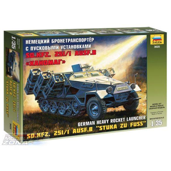 "Zvezda 1:35 Sd.Kfz.251/1 Ausf.B ""Stuka zu Fuss"" - makett"