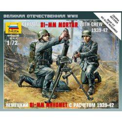 Zvezda German 81-mm Mortar with crew - makett