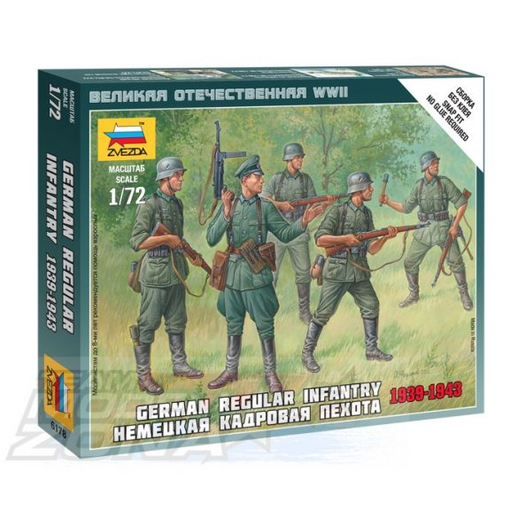 Zvezda German Regular Infantry 1939-43 - makett