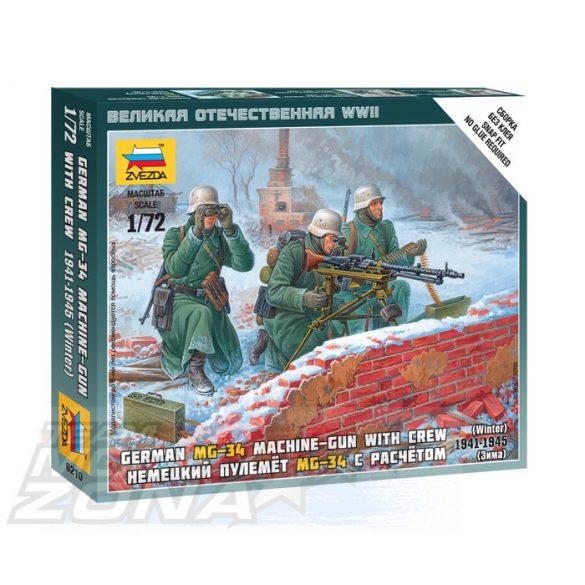 Zvezda German Machine-gun w/Crew - makett