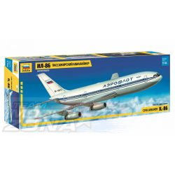 Zvezda - 1:144 ILYUSHIN IL-86 személyszállító repülő - makett