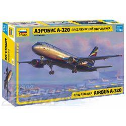Zvezda - 1:144 Airbus A-320 személyszállító repülő - makett