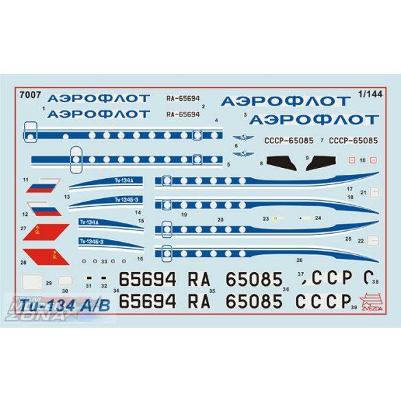 Zvezda Tupolev Tu-134B - makett