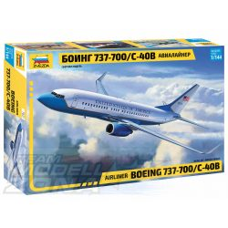"""ZVEZDA - 1:144  """"Boeing 737-700 S-40B"""" - utasszállító repülő - makett"""