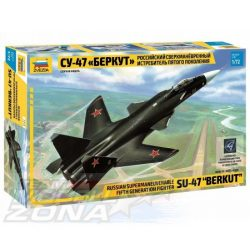 Zvezda - 1:72 Fighter Jet Sukhoi SU-47 Berkut - makett