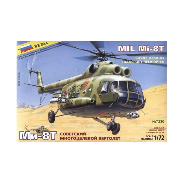 """Zvezda - 1:72 Russian rescue helicopter """"Helix D"""" - makett"""