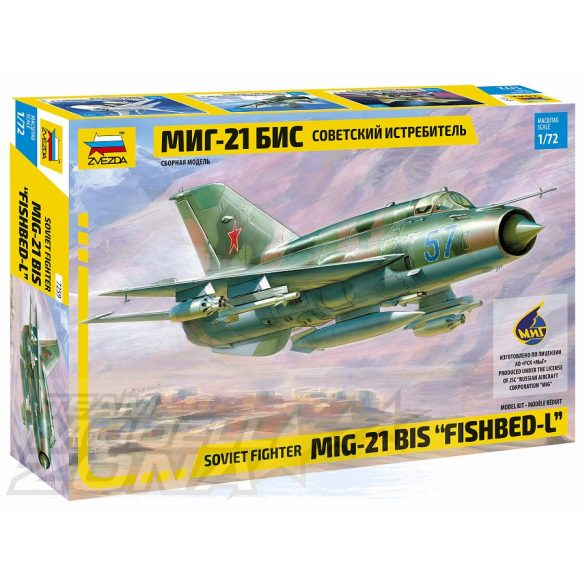 Zvezda MiG-21bis Soviet Fighter - makett