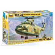 Zvezda - 1:72 Cargo Helicopter MIL Mi-26 HALO - makett 2 db figurával