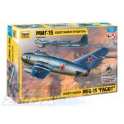 """Zvezda - 1:72 Soviet fighter Mig-15 """"Fagot"""" - makett"""
