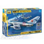 "Zvezda - 1:72 MIG-17 ""Fresco"" Soviet Fighter - makett"